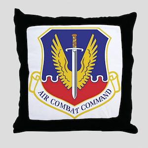 USAF Air Combat Command Throw Pillow