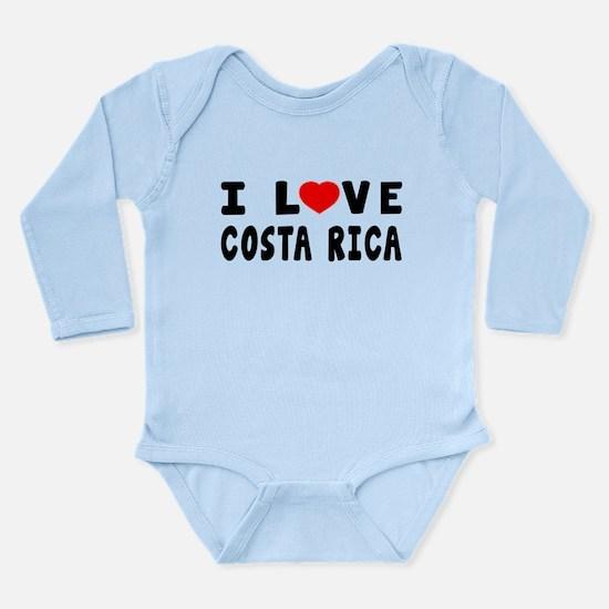 I Love Costa Rica Long Sleeve Infant Bodysuit