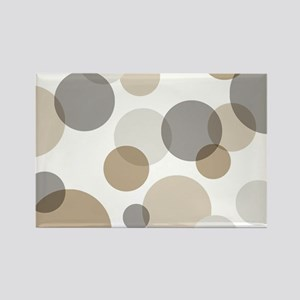 Mono Spots & Dots Rectangle Magnet