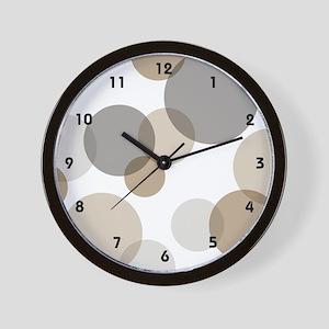 Mono Spots & Dots Wall Clock