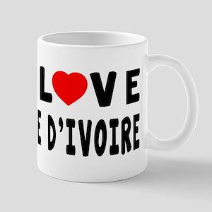 I Love Cote D'Ivoire Mug