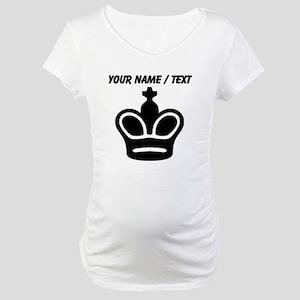 Custom Chess King Maternity T-Shirt