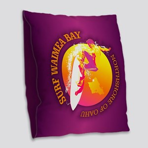 Waimea Bay Burlap Throw Pillow
