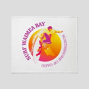 Waimea Bay Throw Blanket