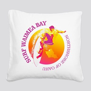 Waimea Bay Square Canvas Pillow