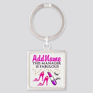 PERSONALIZE MANAGER Square Keychain