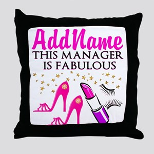 PERSONALIZE MANAGER Throw Pillow