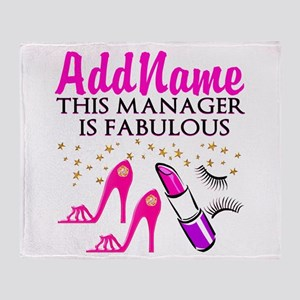PERSONALIZE MANAGER Throw Blanket