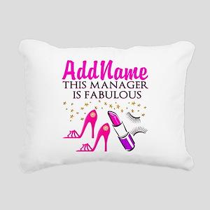 PERSONALIZE MANAGER Rectangular Canvas Pillow