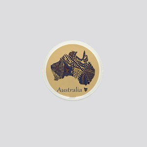 Decorative Australia Map Souvenir Mini Button