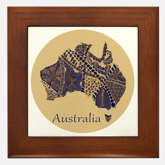 Decorative Australia Map Souvenir Framed Tile