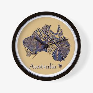 Decorative Australia Map Souvenir Wall Clock