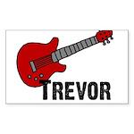 Guitar - Trevor Rectangle Sticker