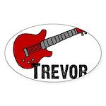 Guitar - Trevor Oval Sticker