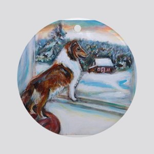 Sheltie Holiday Ornament (Round)