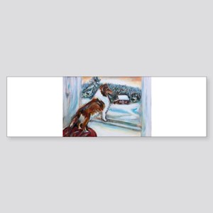 Sheltie Holiday Bumper Sticker