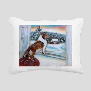 Sheltie Holiday Rectangular Canvas Pillow
