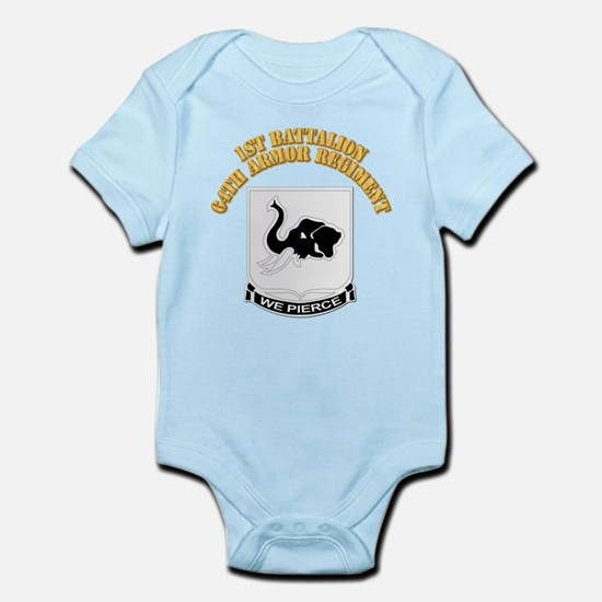DUI - 1st Bn 64th Armor Regiment with Text Infant