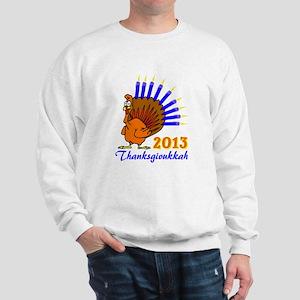Thanksgivukkah 2013 Menurkey Sweatshirt