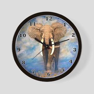 Bull Elephant Wall Clock