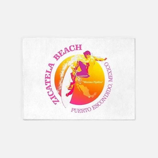 Zicatela Beach 5'x7'Area Rug