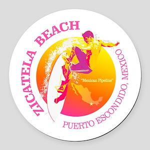 Zicatela Beach Round Car Magnet