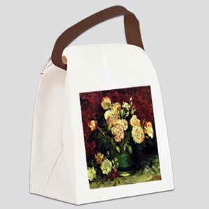 Van Gogh - Bowl with Peonies and  Canvas Lunch Bag