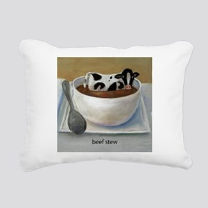 Beef Stew (Funny Farm) Rectangular Canvas Pillow