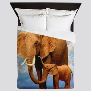 Elephant Mother Queen Duvet