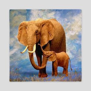 Elephant Mother Queen Duvet