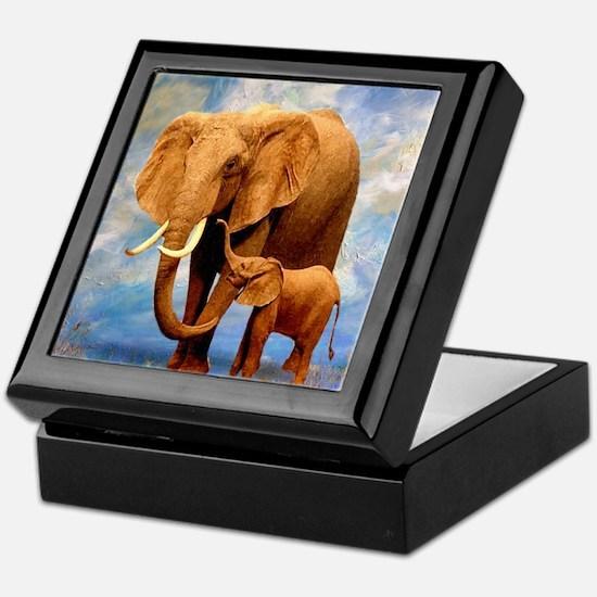 Elephant Mother Keepsake Box