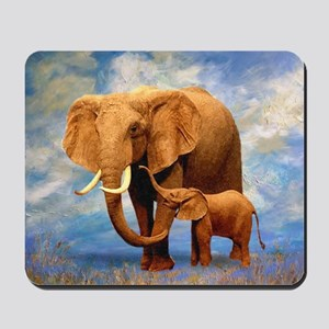 Elephant Mother Mousepad