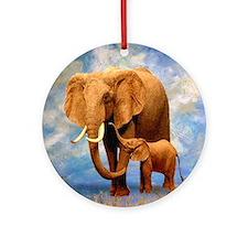 Elephant Mother Ornament (Round)
