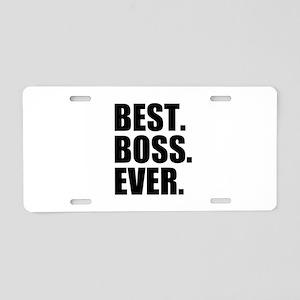 Best Boss Ever Aluminum License Plate