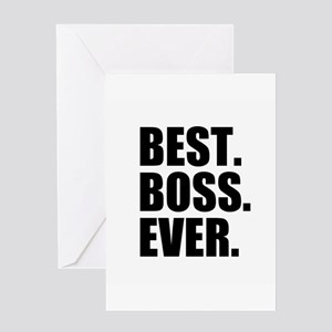 Best boss greeting cards cafepress best boss ever greeting cards m4hsunfo