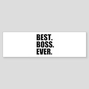 Best Boss Ever Bumper Sticker