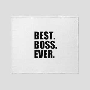 Best Boss Ever Throw Blanket