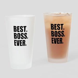 Best Boss Ever Drinking Glass