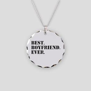 Best Boyfriend Ever Necklace Circle Charm