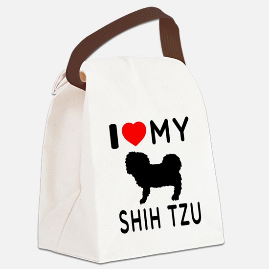 I Love My Dog Shih Tzu Canvas Lunch Bag