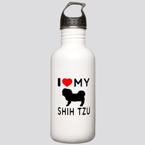 I Love My Dog Shih Tzu Stainless Water Bottle 1.0L