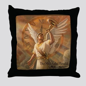 "Angel ""Midnight Herald"" Fine Art Pillow"