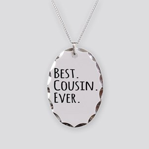 Best Cousin Ever Necklace Oval Charm