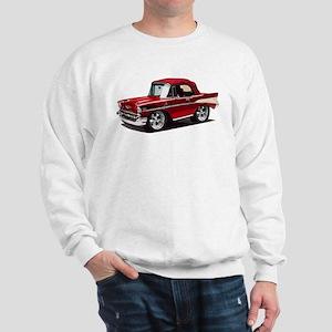 BabyAmericanMuscleCar_57BelR_Red Sweatshirt