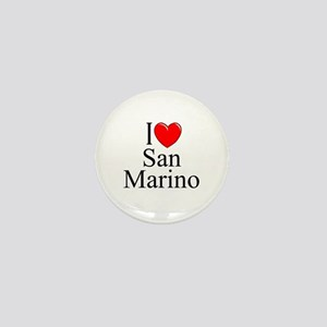 """I Love San Marino"" Mini Button"