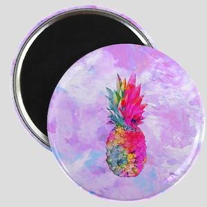 Bright Neon Hawaiian Pineapple Tropical Wat Magnet