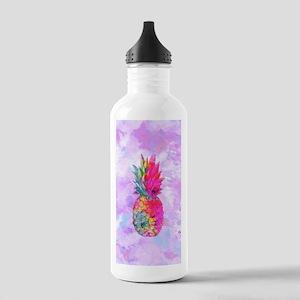 Bright Neon Hawaiian P Stainless Water Bottle 1.0L