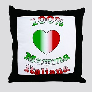 100% Mamma Italiana Throw Pillow