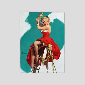 Pin Up Girl, Mistletoe, Vintage Poster 5'X7'area R