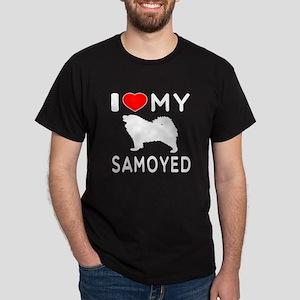 I Love My Dog Samoyed Dark T-Shirt